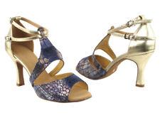 Latin Salsa Very Fine Ballroom Dance Shoe SERA7004 Purple Red Copper Silver Gold