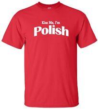 KISS ME I'M POLISH Cool Republic of Poland Warsaw Krakow Love T-Shirt