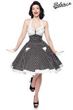 Vintage Swing Kleid Neckholder Kleid gepunktet Rockabilly Kleid mit Tellerrock