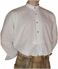 Gr.38-50 Halsw. Trachtenhemd Pfoadl Trachten-Hemd Trachtenpfoadl Stehkragen weiß