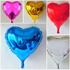 Ballons en alu en forme de cœur - décoration de fête, St Valentin, romantique