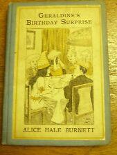 Geraldine's Birthday Surprise- Merryvale Girls -A.H. Burnett , NY Book Co.-1916
