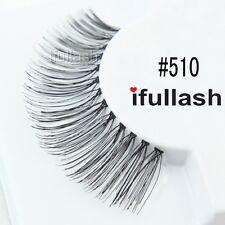 #510 6 or 12 pairs of ifullash 100% human hair Eyelashes- BLACK