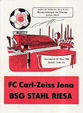 OL 85/86 BSG Stahl Riesa - FC Carl Zeiss Jena
