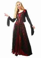 Gothic Victorian Halloween Vampire Dark Black Prom Night Sexy Net Skirt Punk