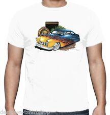 Velocitee UOMO T-SHIRT MERCURIO PIOMBO Sled Auto Personalizzato AMERICAN V8 HOT ROD pos-346