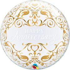 "Happy Anniversary Bubble Balloon Helium Fill 22"" Party Decoration Wedding"