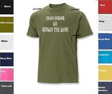 Train Insane Remain the Same Fitness Exercise T-Shirt Training Gym SZ S-5XL