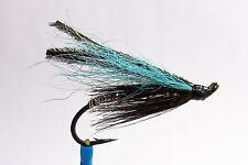 1 x mouche Saumon BLUE SMELT SINGLE hook salmon fly fliegen steelhead hairwing