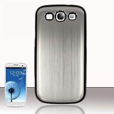 Aluminio Estilo cromo acabado Nuevo Funda Protectora Para Samsung Galaxy S3 I9300 + Film