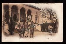 1900 hand tinted tunisia locals paris exposition africa postcard