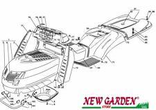 Explosionszeichnung Karosserie 102cm PTC220hd Aufsitzmäher Rasenmäher