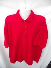 BNWOT Mens Sz XL Short Sleeve Hot Red Polo T Shirt