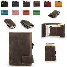 SecWaL 1 Leder Mini Geldbörse Geldbeutel RFID Kartenetui Münzfach Reißverschluss