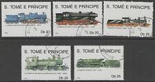 ST.TOME PRINCIPE Mi1170/4 1990 LOCOMOTIVES FINE USED