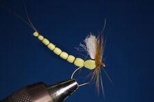 Fliegentom mouche sèche 3 piéces - Éphémère jaune clair avec le corps allongé
