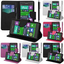 Etui Support Video Cuir PU Effet Tissu Nokia Lumia 735/ 735 LTE/ 730 Dual Sim