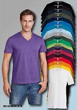 Kariban Camiseta de Manga Corta para Hombre con Cuello en V 19 Farben T. S Hasta