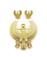 Hip Hop Fashion 7 Kinds Egyptian Brooch Pins & Stud Earring Set
