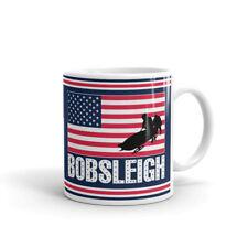 Bobsleigh Team Winter Sports Usa Coffee Tea Ceramic Mug Office Work Cup Gift