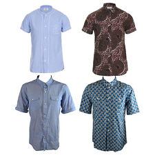 Eleven Paris Men's Short Sleeve Casual Cotton Slim Fit Shirts