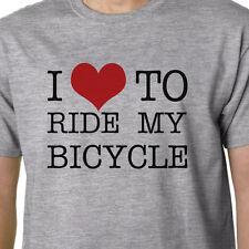I Love To Ride My Bicycle t-shirt GREEN ECO ENVIRONMENT WIGGINS CYCLING BIKING