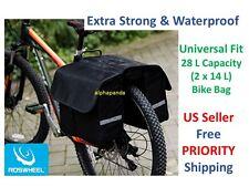 28L Waterproof Bike Cycling Commuter Large Pannier Bag Trunk Rack Pack Storage