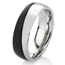 Verlobungsring Ehering Damenring Herrenring aus Edelstahl mit Ring Gravur ES43