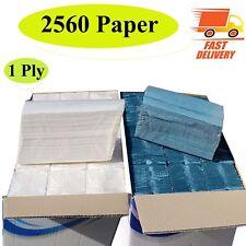1ply C Fold Paper Hand Towel Multi Fold Luxury Whit / Blue Case of 2560