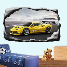 SUPER auto da corsa FERRARI adesivi murali 3d Arte Murale Decalcomania Arredamento Casa Ufficio SI8
