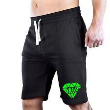 Men's Rave Diamond Fleece shorts sweatpants jogger Dance Music Neon Party V421