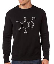 Caffeine Chemical Compund Sweatshirt - Geek Nerd Science Mens Black Jumper