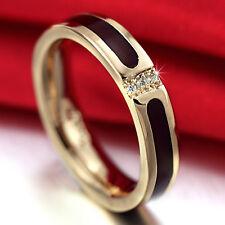 18K ROSE GOLD GF IP LAB DIAMOND MENS WOMEN ETERNITY ENGAGEMENT WEDDING BAND RING