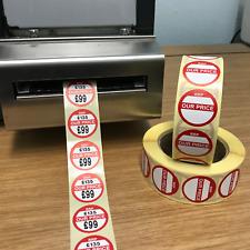 Thermodrucker - Runde Our Price - Verkauf Etikett/Aufkleber