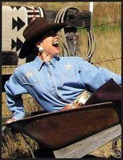 Pearl Snaps cowgirl woman Western Denim Flower  shirt