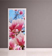 Fiore Rosa Blu Porta Wrap stampa a COLORI Murale Wall Art Sticker Decal P1I