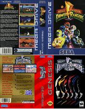 Power Rangers Sega Megadrive & Genesis PAL NTSC Replacement Box Art Case Insert