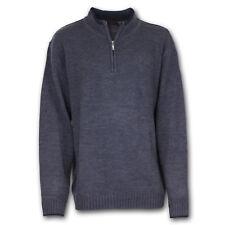 PIERRE CARDIN 1/4 Zip Pullover Strickpullover Übergrößen 4XL 5XL 6XL Dunkelgrau