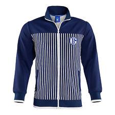 S04 FC Schalke 04 Herren - Trainings-Jacke Retro Stripes