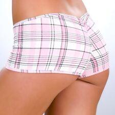 3005 Pink Plaid Scrunched Booty Boy Shorts ROLLER Hipster Dancer Gogo RAVE S M L