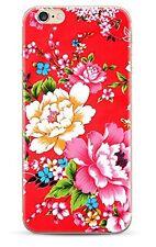 Carcasa flexible con estampado Fantasía Flores para iPhone 6 / 6 S