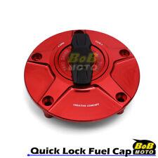 RED FCR 1/4 Quick Lock Gas Fuel Cap For Yamaha YSR 50 87 88 89 90 91 92