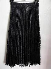 FREE PEOPLE LACE PRETTY PLEATS MAXI SKIRT, Black, Size 2, 6, 10, MSRP $168