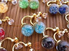 Orecchini Earrings Bubble Introvabili Colorati Bolla Magica Fiore e Cristalli