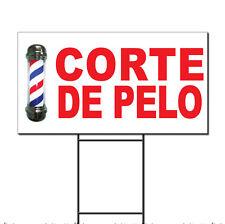 Corte De Pelo Red Corrugated Plastic Yard Sign /Free Stakes