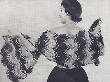 Vintage Crochet PATTERN Hairpin Lace Shawl Stole Wrap