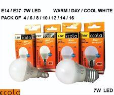 7W LED E27 ES/E14 SES G45 ECOLA GOLF BALL Small Globe Bulb Light WARM/DAY/ COOL