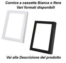 Cornice in legno a Cassetta NERA o BIANCA laccata front cm 2  Cornici per quadri
