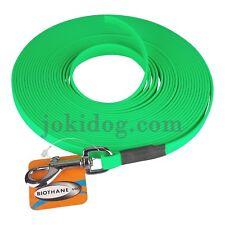 Longe plate biothane - 13 mm - 20 m - vert - jokidog
