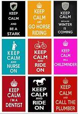 KEEP CALM VARIETY STARK WINTER HORSE NURSE MIDWIFE FRIDGE MAGNET JUMBO KEYRING